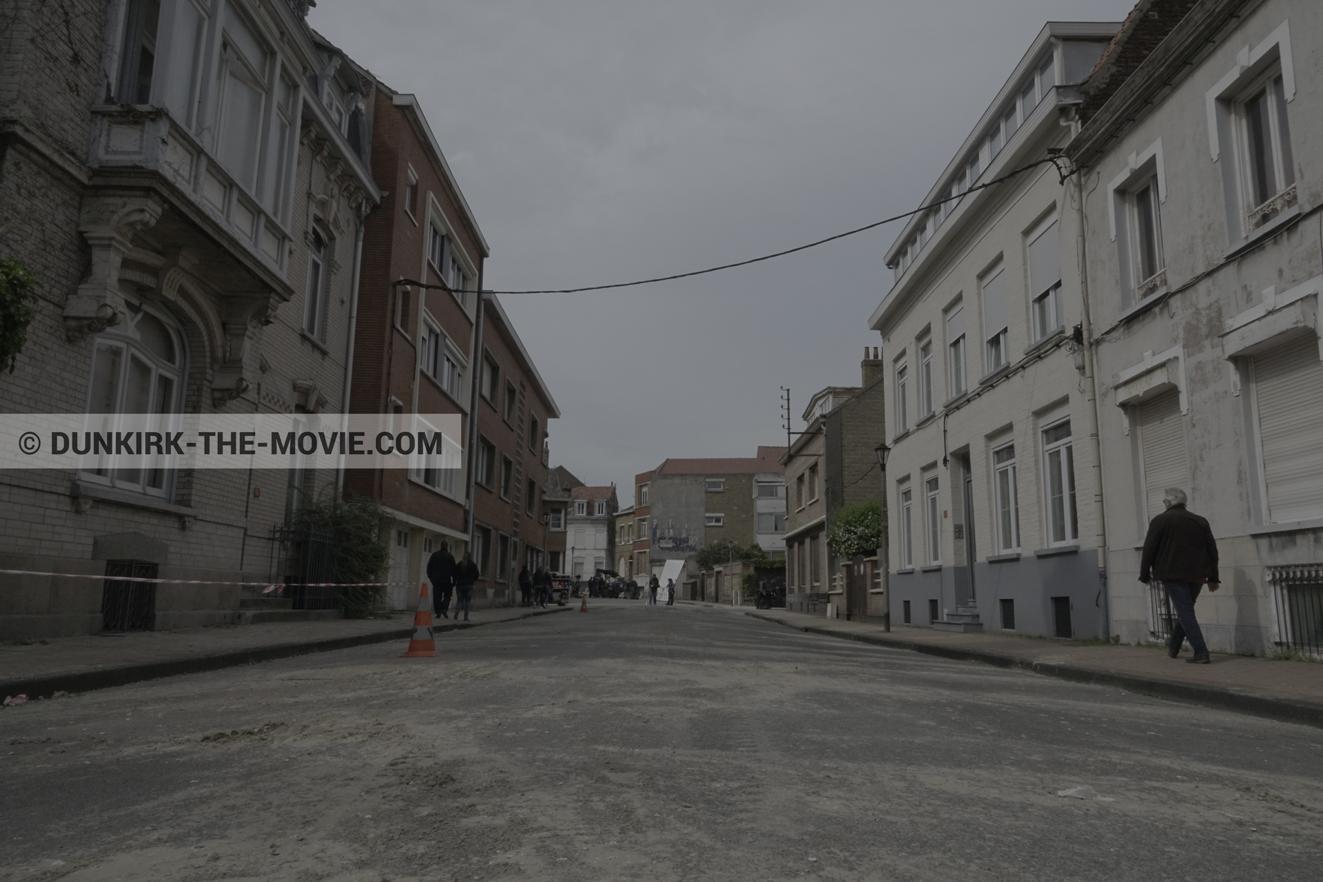 Picture with Belle Rade street,  from behind the scene of the Dunkirk movie by Nolan