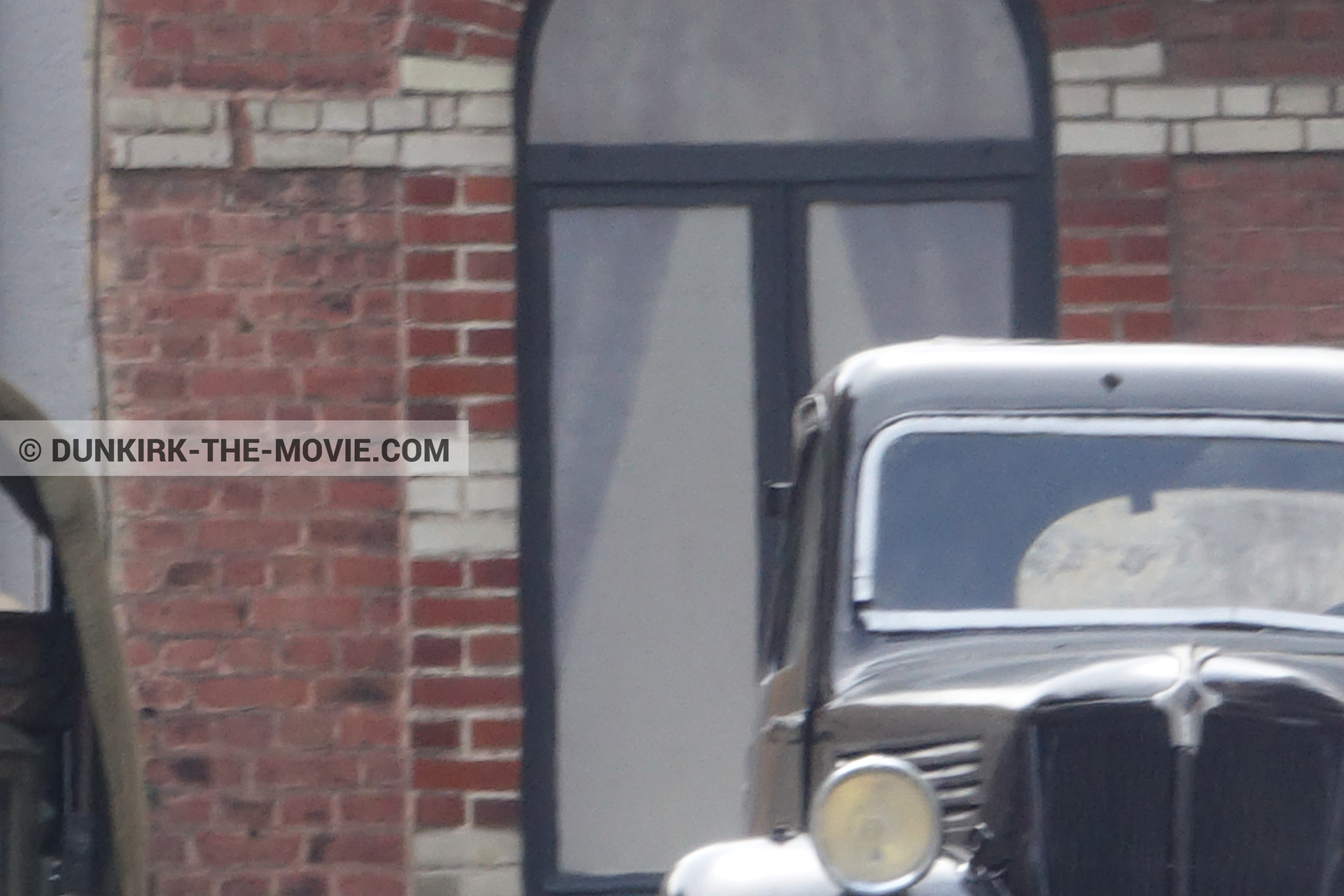 Picture with old car,  from behind the scene of the Dunkirk movie by Nolan