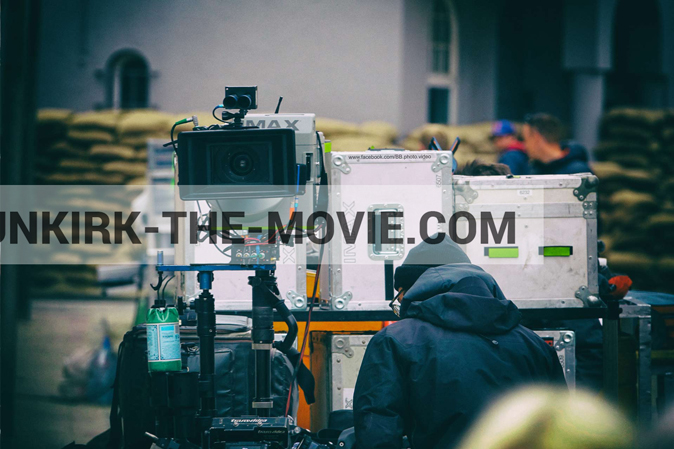 Photo on canvas number 569, of the filming of the film Dunkirk
