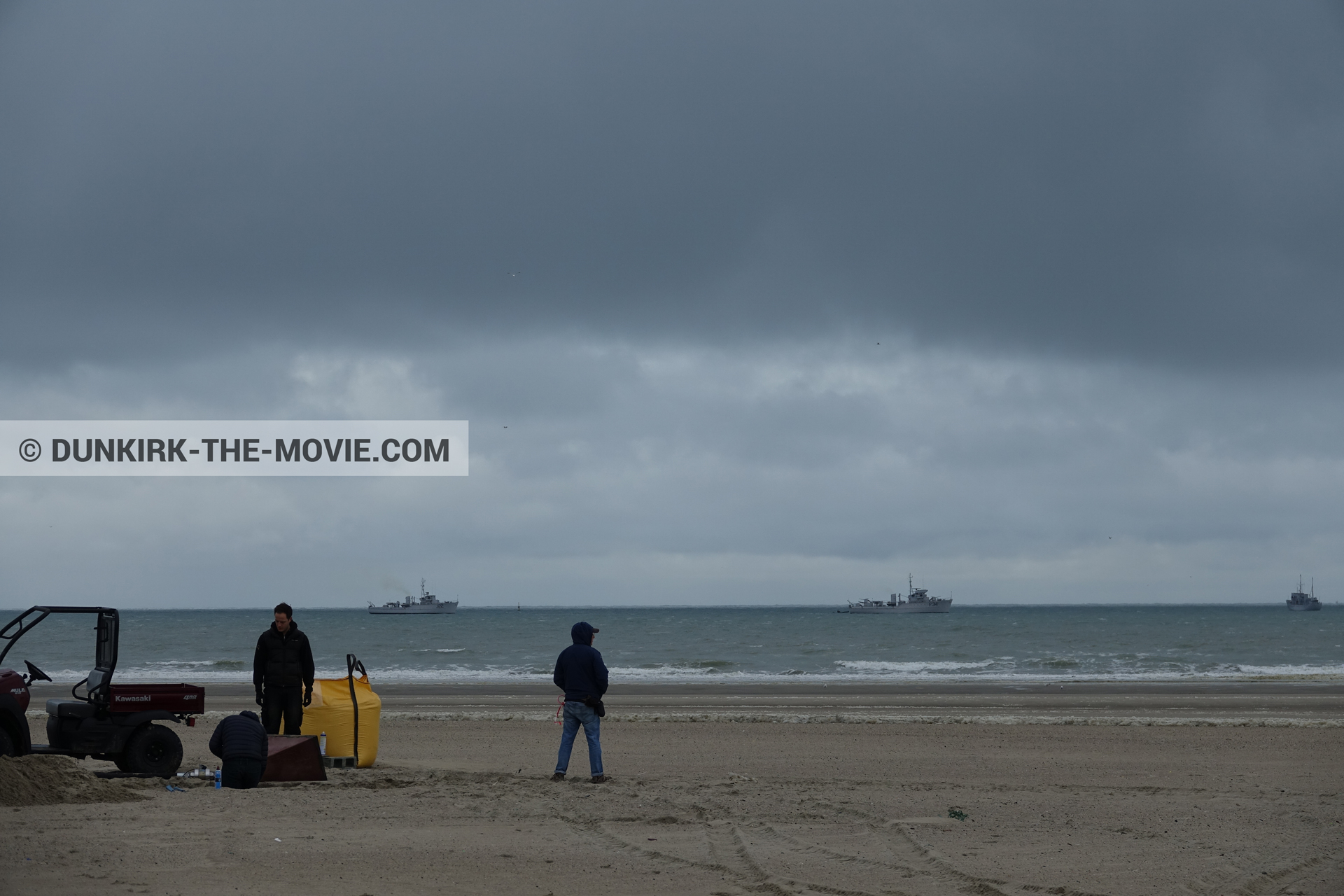 Photo on canvas number 381, of the filming of the film Dunkirk