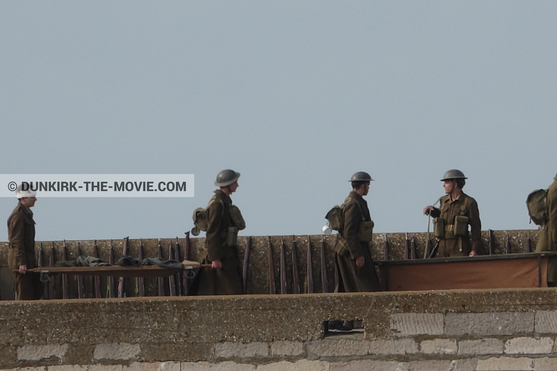 Picture with supernumeraries, EST pier,  from behind the scene of the Dunkirk movie by Nolan