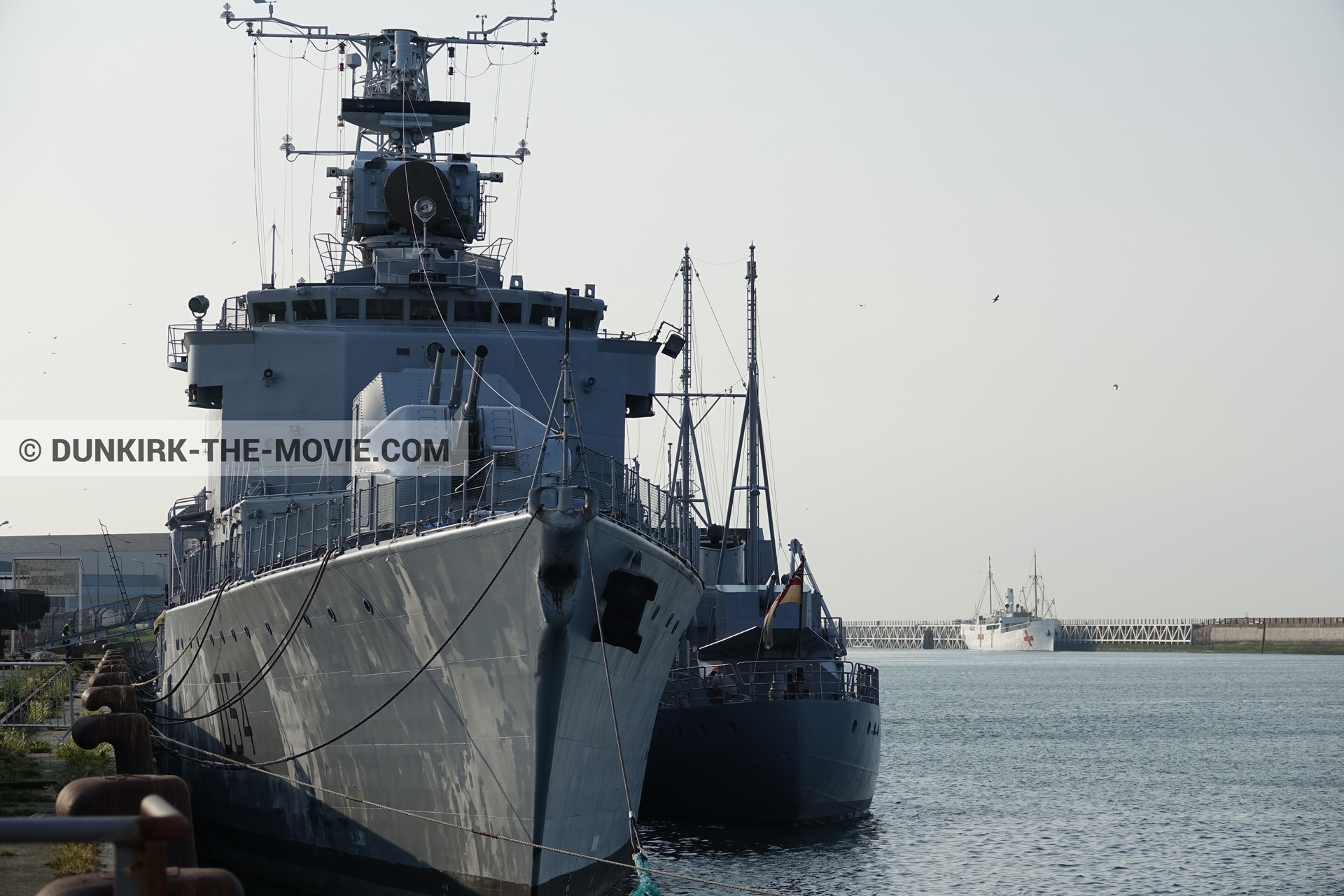 Picture with F34 - Hr.Ms. Sittard, EST pier,  from behind the scene of the Dunkirk movie by Nolan