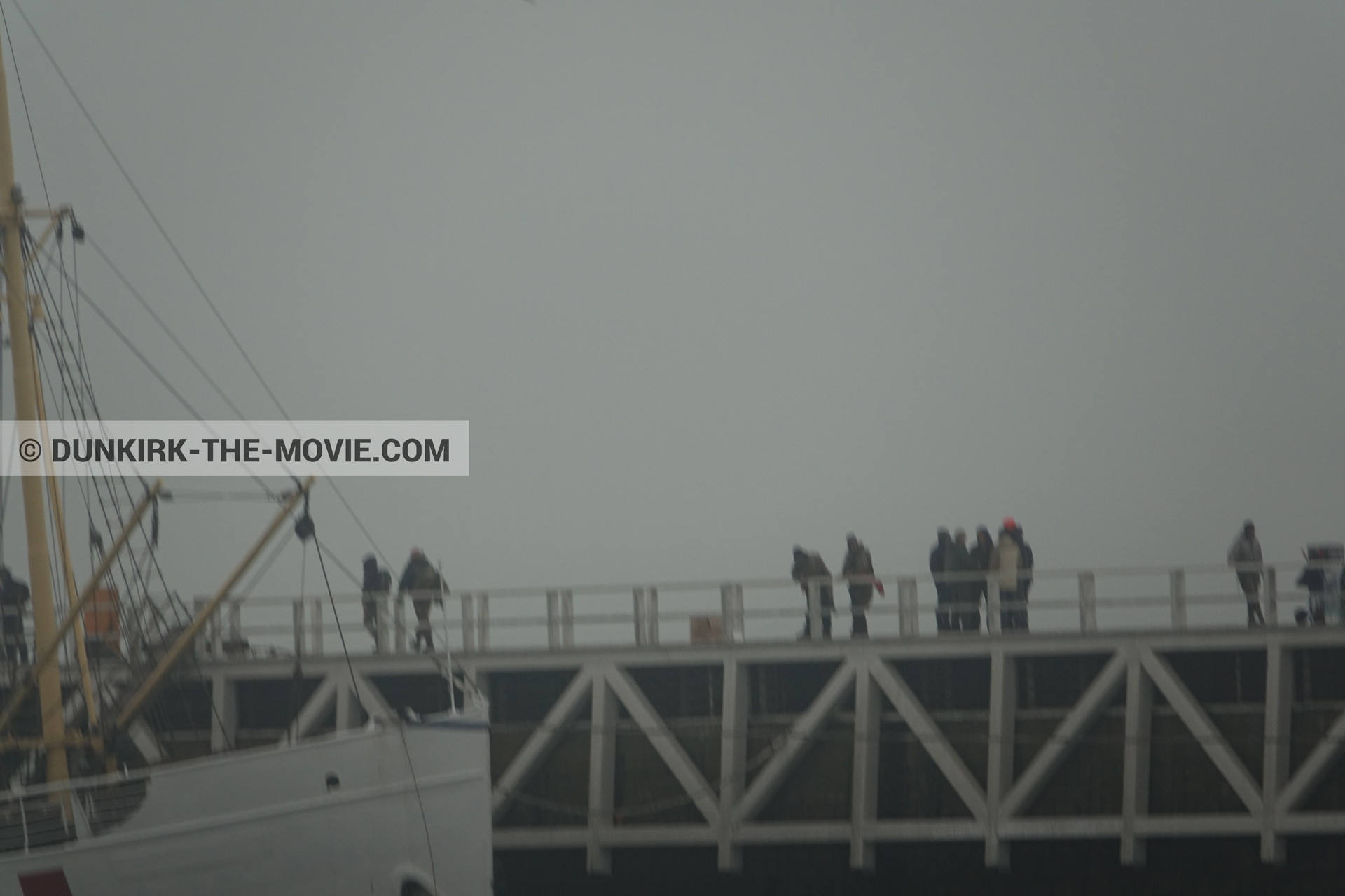 Picture with supernumeraries, EST pier, technical team, M/S Rogaland,  from behind the scene of the Dunkirk movie by Nolan