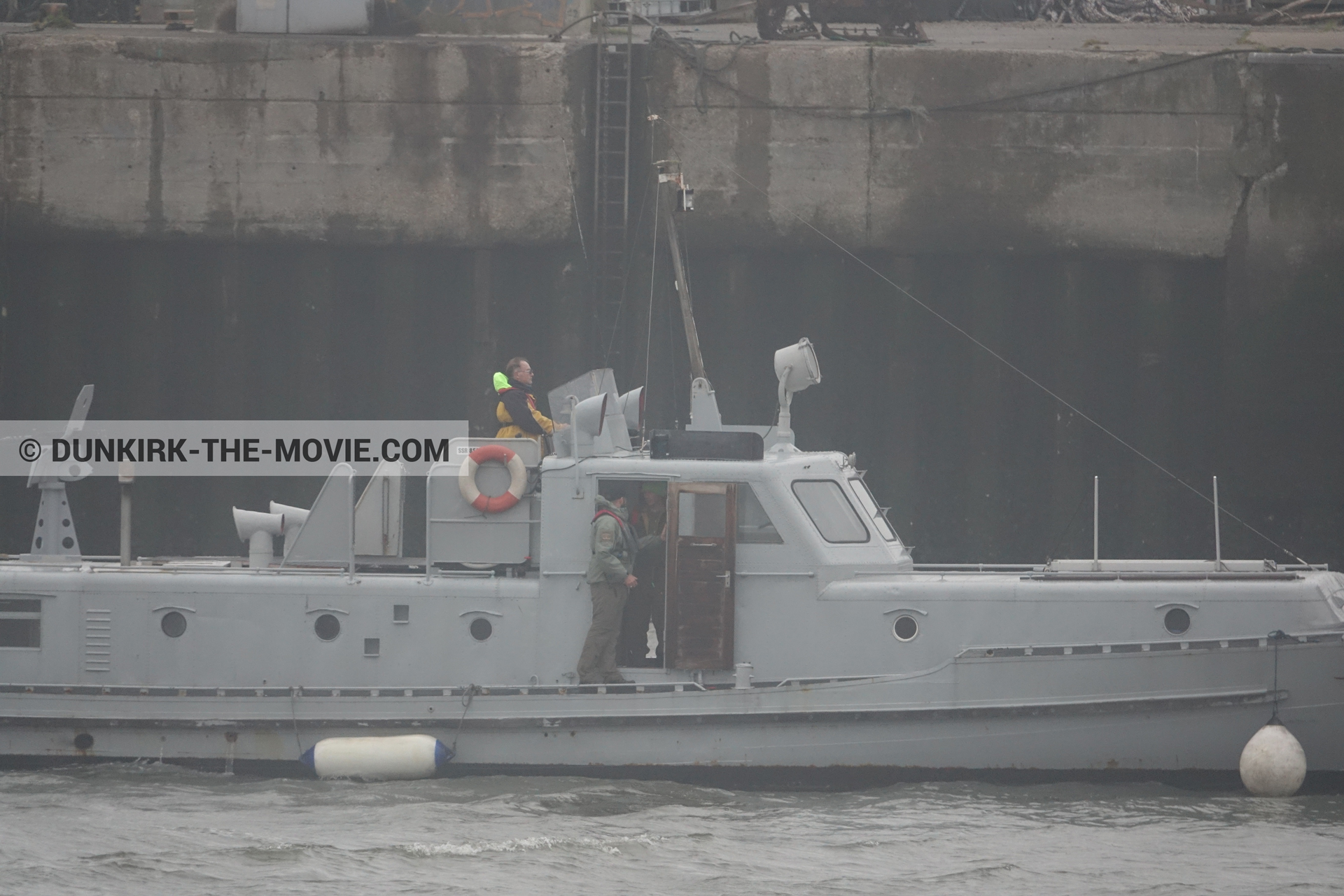 Picture with boat, PR 22,  from behind the scene of the Dunkirk movie by Nolan