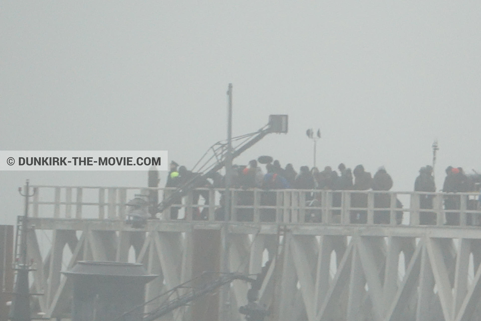 Picture with EST pier, technical team,  from behind the scene of the Dunkirk movie by Nolan