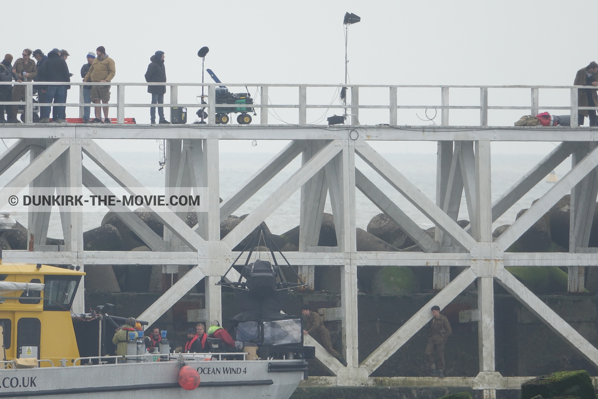 Photo on canvas number 85, of the filming of the film Dunkirk