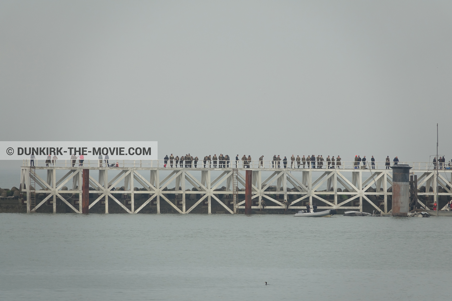 Picture with decor, EST pier,  from behind the scene of the Dunkirk movie by Nolan