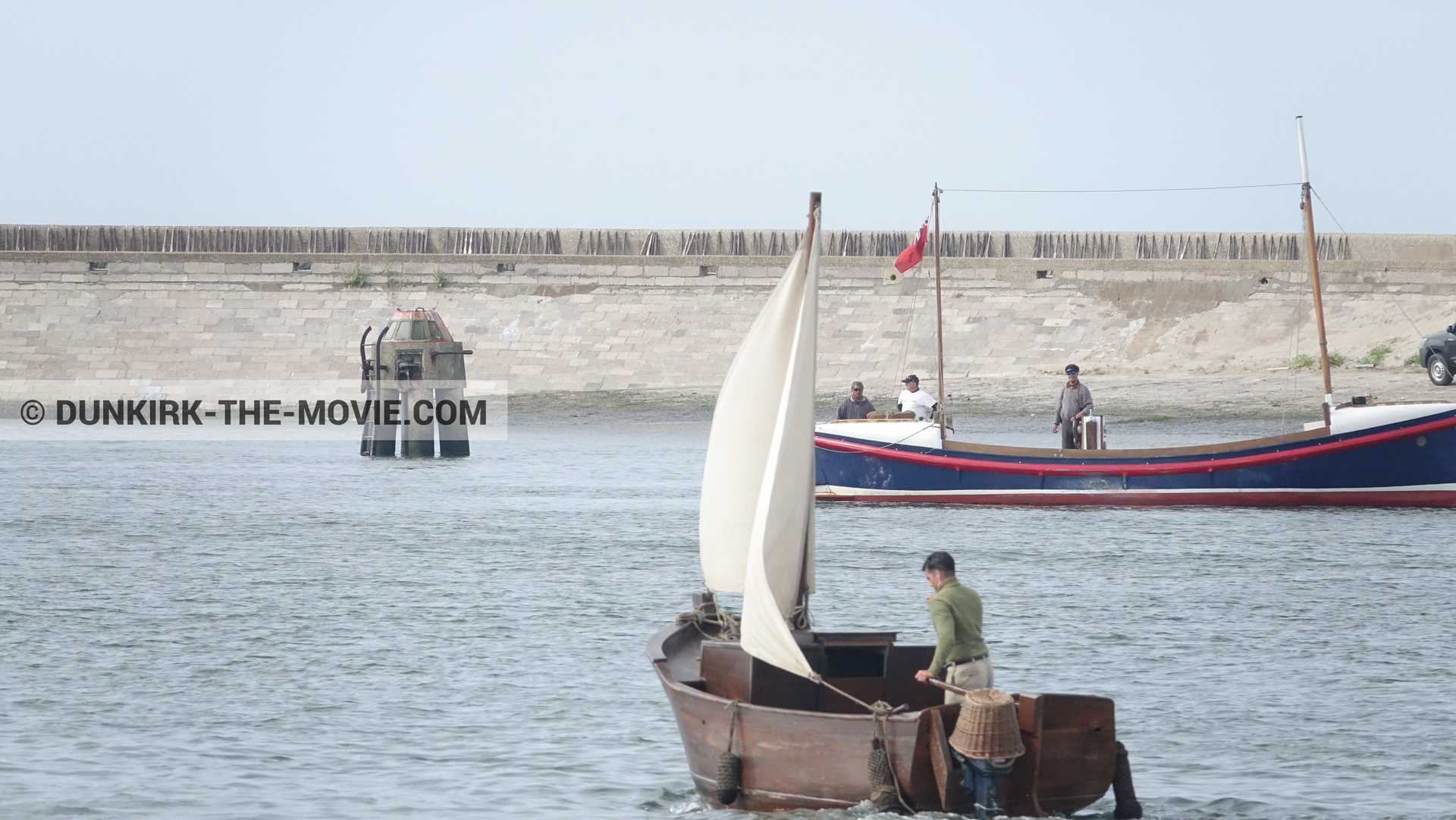 Picture with boat, EST pier, Henry Finlay lifeboat,  from behind the scene of the Dunkirk movie by Nolan