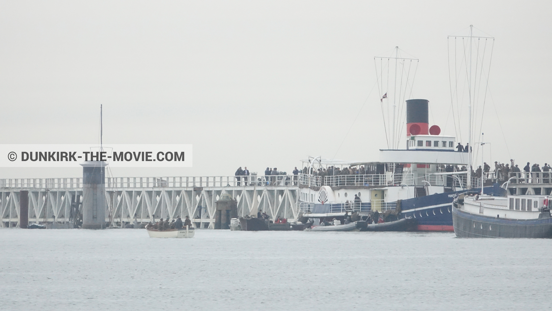 Picture with grey sky, EST pier, Princess Elizabeth,  from behind the scene of the Dunkirk movie by Nolan