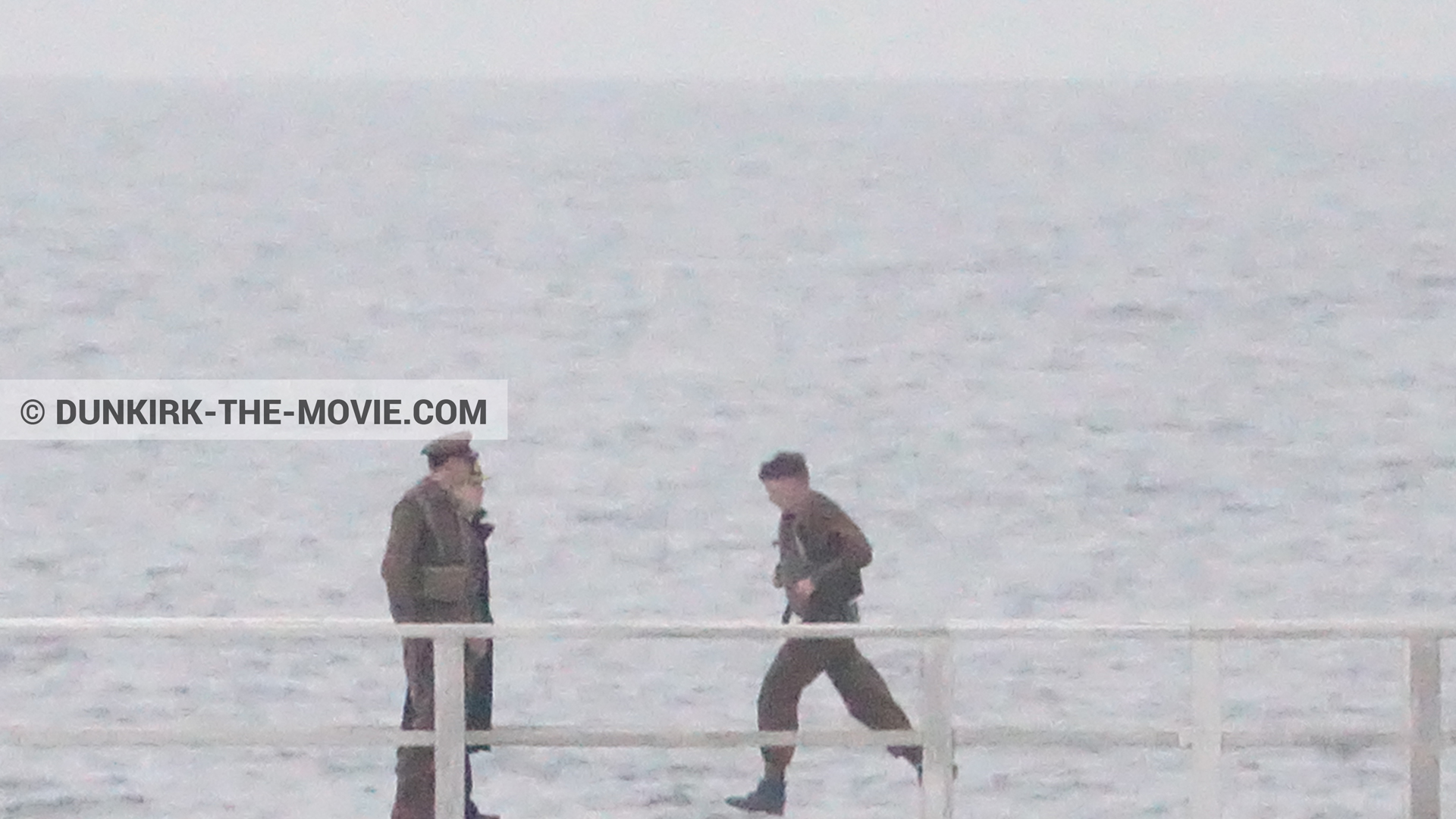 Picture with actor, EST pier,  from behind the scene of the Dunkirk movie by Nolan