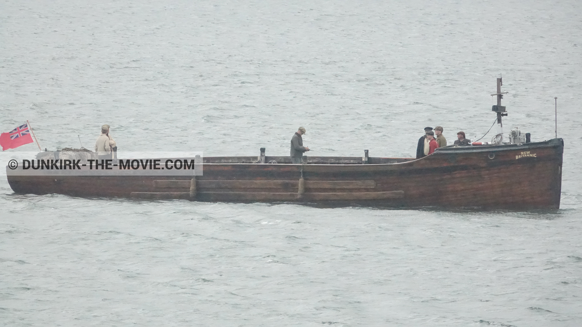 Picture with boat,  from behind the scene of the Dunkirk movie by Nolan