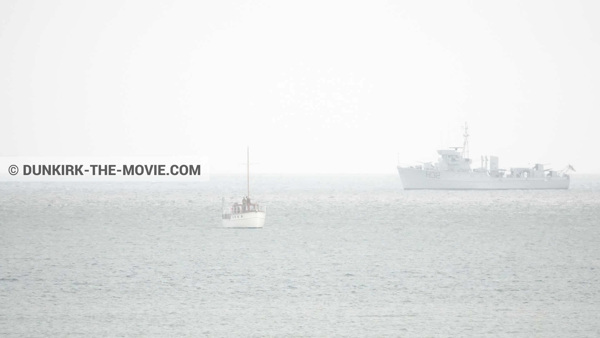 Picture with boat, H32 - Hr.Ms. Sittard,  from behind the scene of the Dunkirk movie by Nolan
