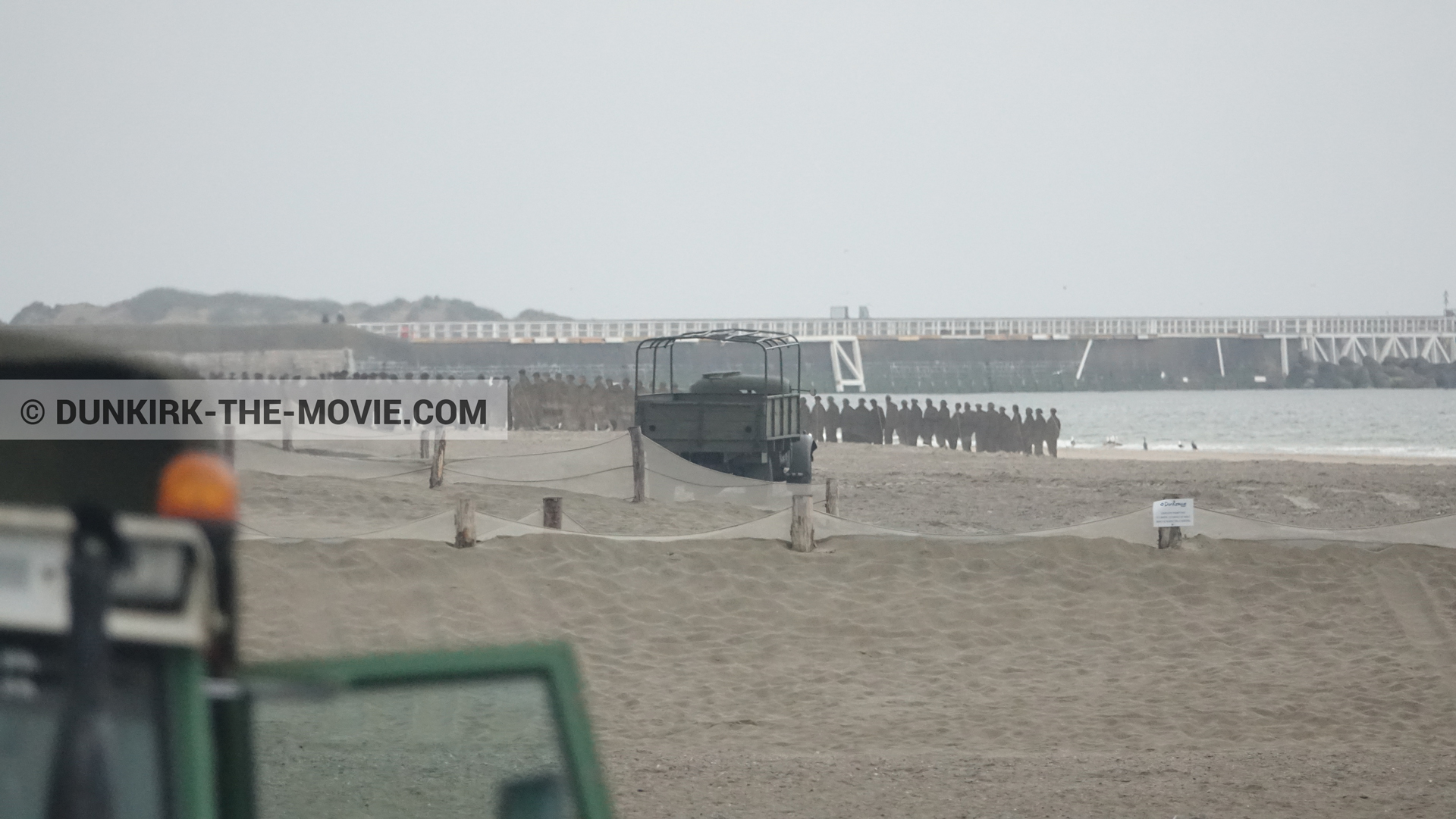 Picture with beach,  from behind the scene of the Dunkirk movie by Nolan
