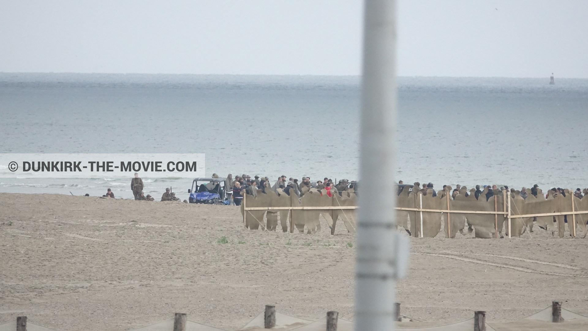 Picture with decor, beach,  from behind the scene of the Dunkirk movie by Nolan