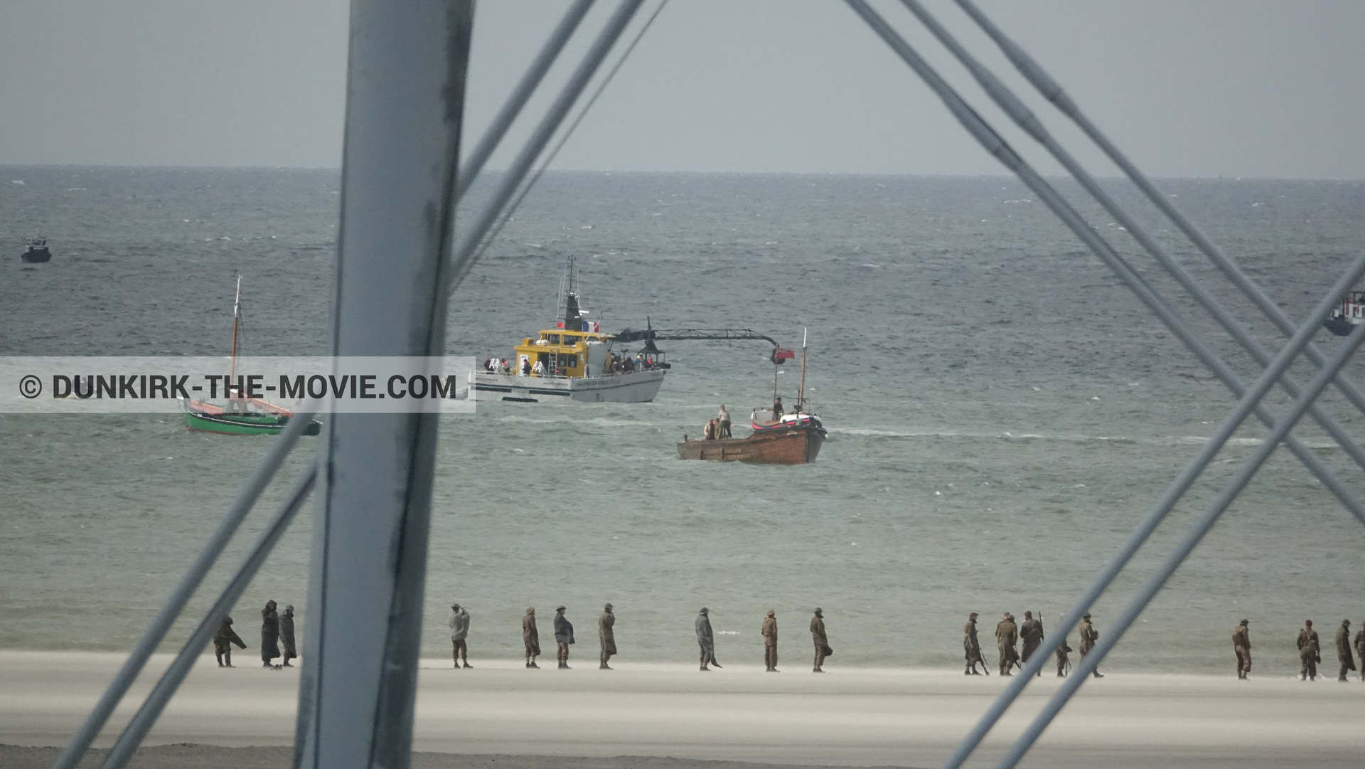 Picture with boat, Ocean Wind 4, beach,  from behind the scene of the Dunkirk movie by Nolan