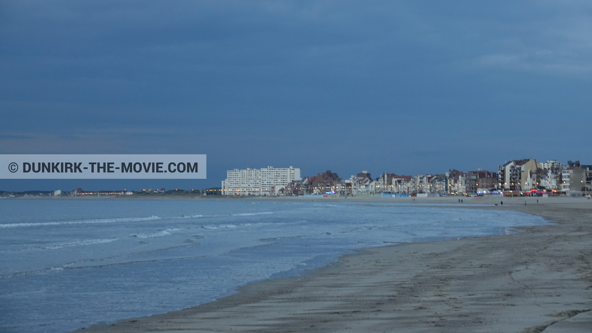 Picture with blue sky, Malo les Bains,  from behind the scene of the Dunkirk movie by Nolan