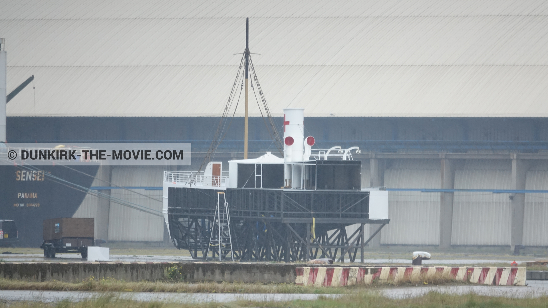 Picture with accessories, M/S Rogaland,  from behind the scene of the Dunkirk movie by Nolan