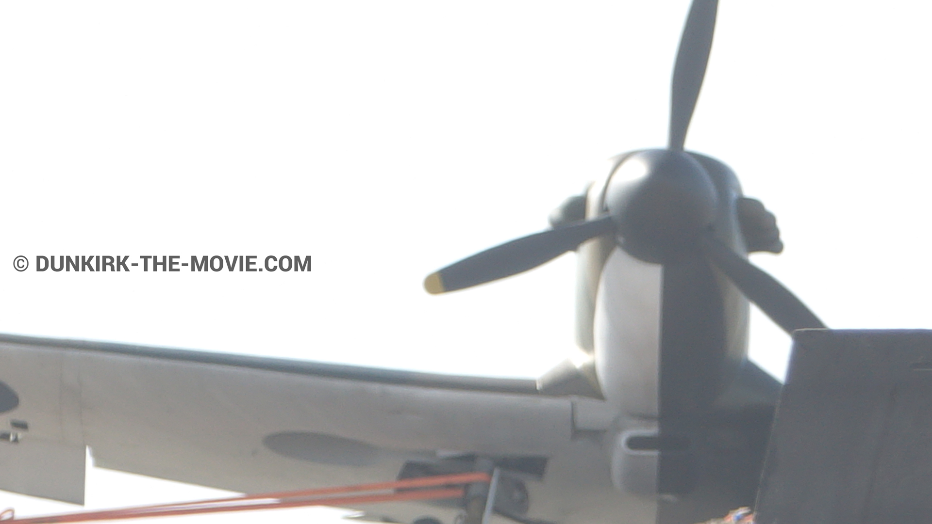 Picture with plane,  from behind the scene of the Dunkirk movie by Nolan