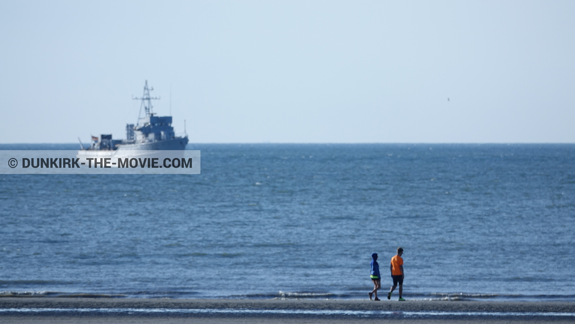 Picture with F34 - Hr.Ms. Sittard, beach,  from behind the scene of the Dunkirk movie by Nolan