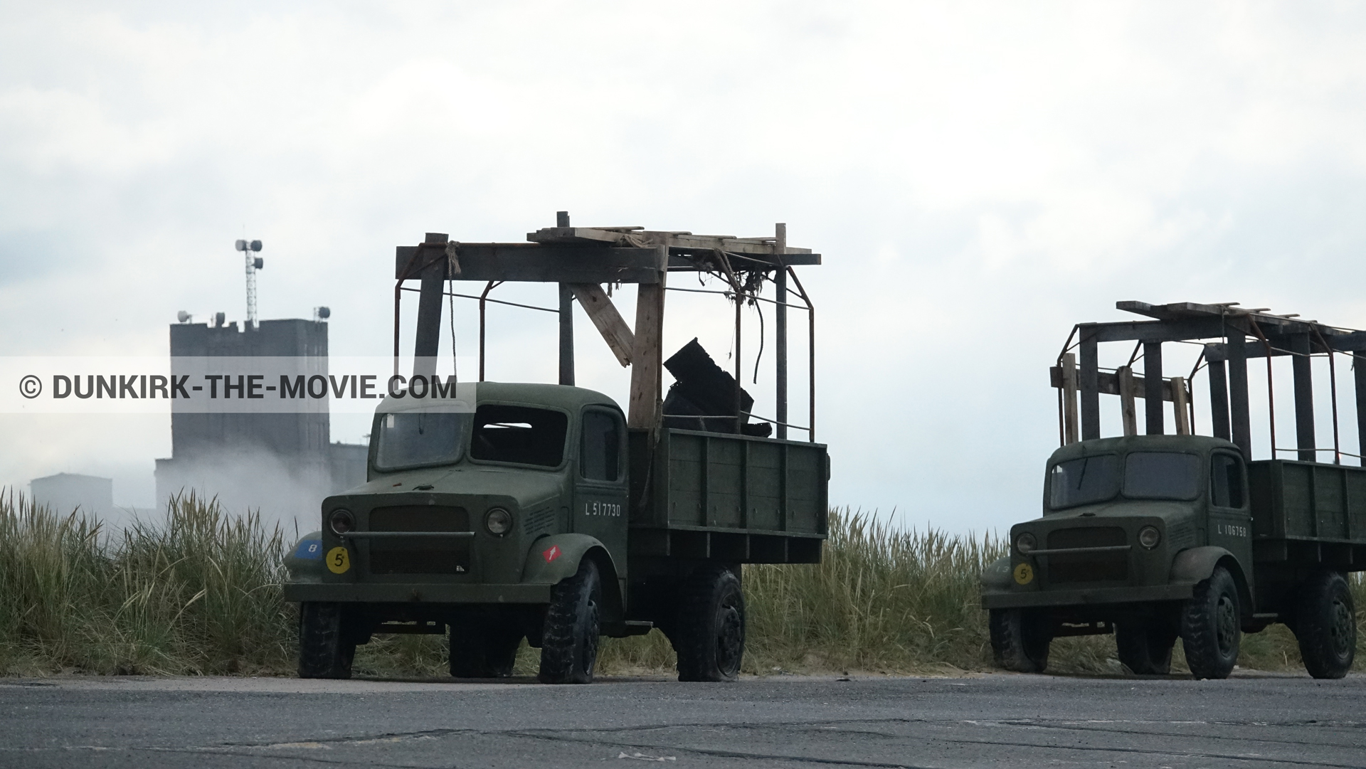 Picture with truck,  from behind the scene of the Dunkirk movie by Nolan