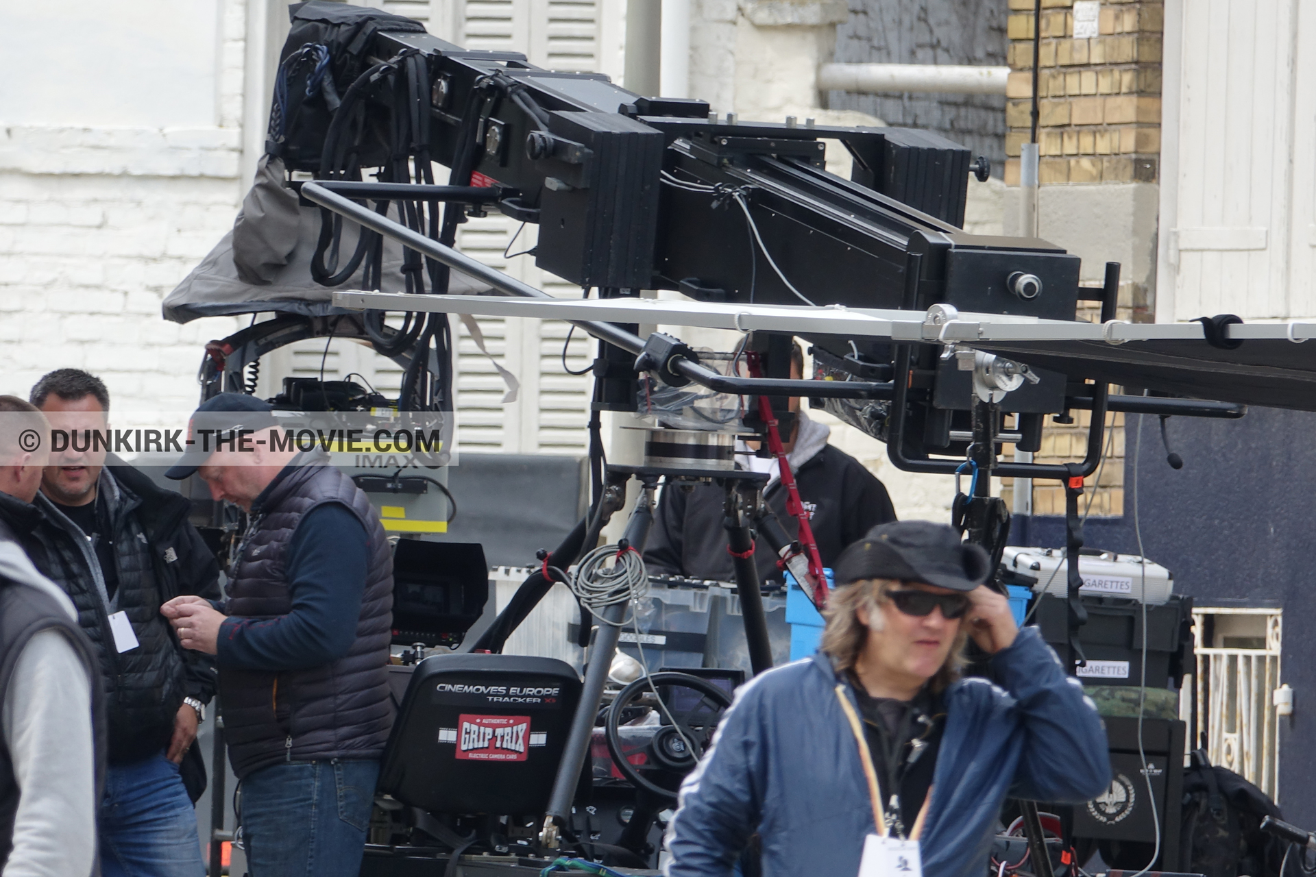 Picture with IMAX camera, Belle Rade street, technical team,  from behind the scene of the Dunkirk movie by Nolan