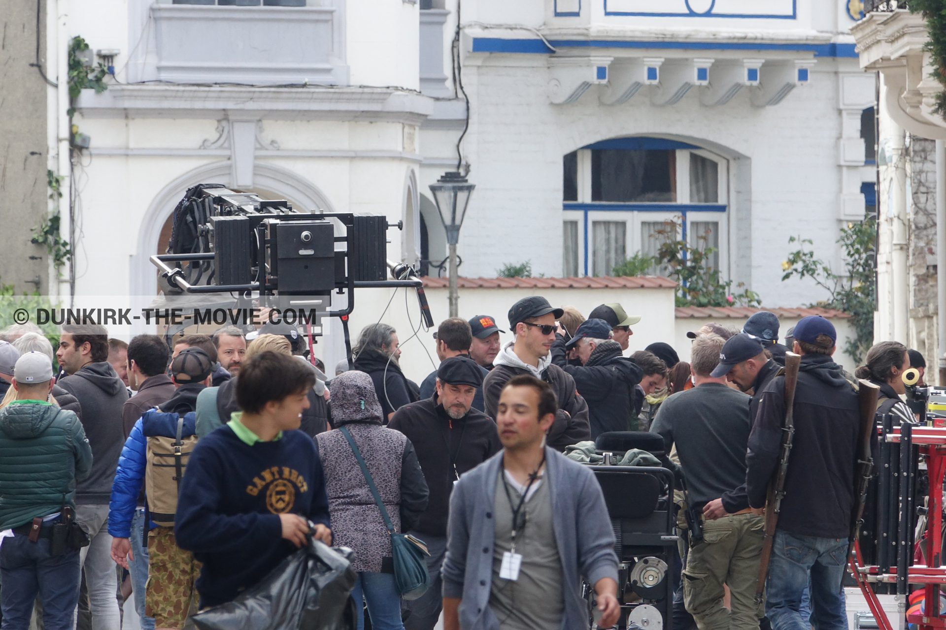 Picture with Belle Rade street, technical team,  from behind the scene of the Dunkirk movie by Nolan