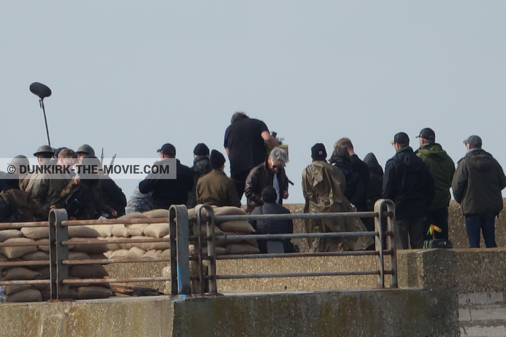 Picture with supernumeraries, EST pier, Nilo Otero,  from behind the scene of the Dunkirk movie by Nolan