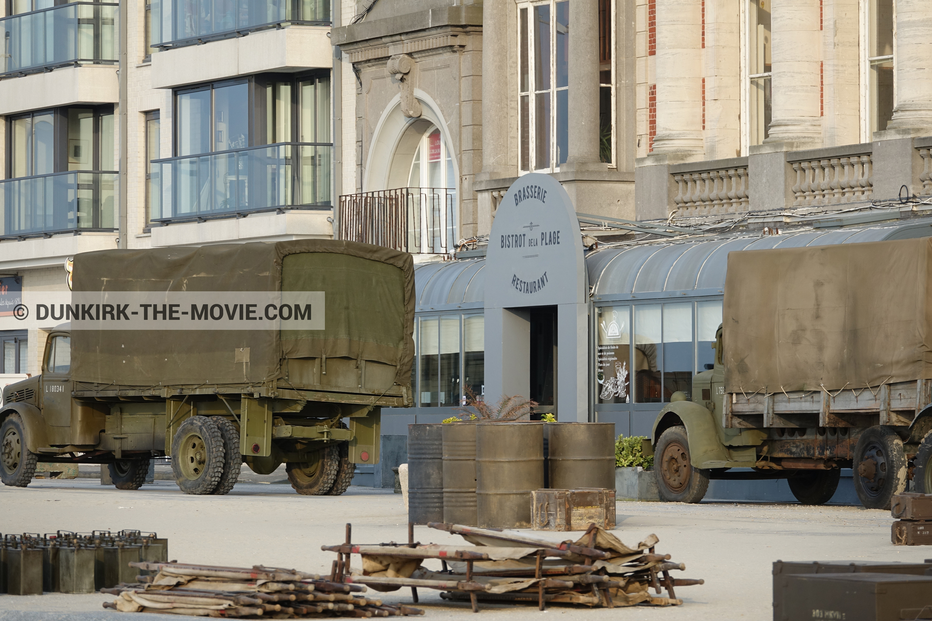 Picture with decor, Malo les Bains,  from behind the scene of the Dunkirk movie by Nolan