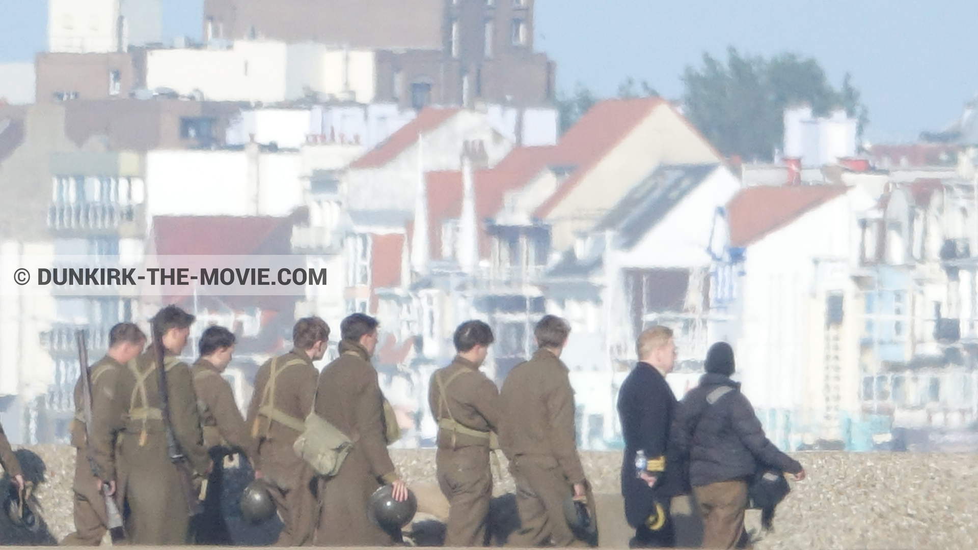 Picture with supernumeraries, EST pier, Kenneth Branagh, Malo les Bains,  from behind the scene of the Dunkirk movie by Nolan