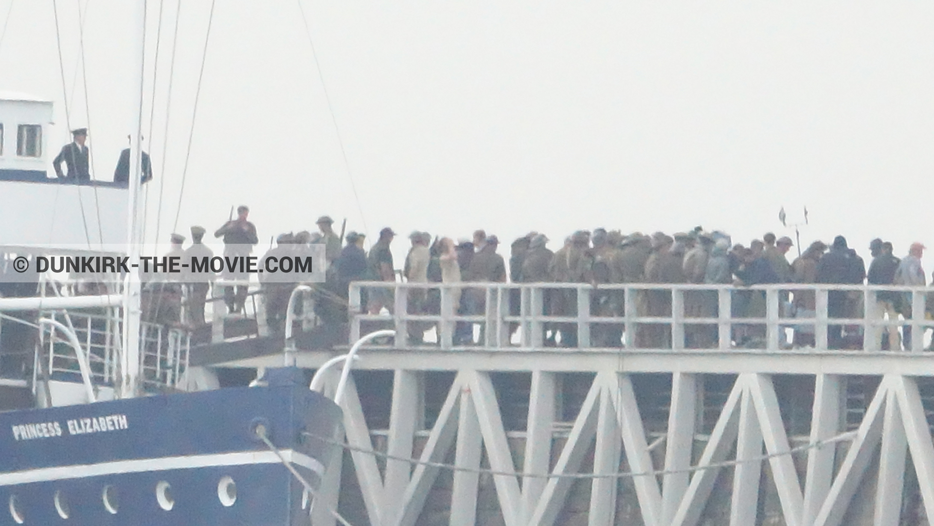 Picture with supernumeraries, EST pier, Princess Elizabeth,  from behind the scene of the Dunkirk movie by Nolan