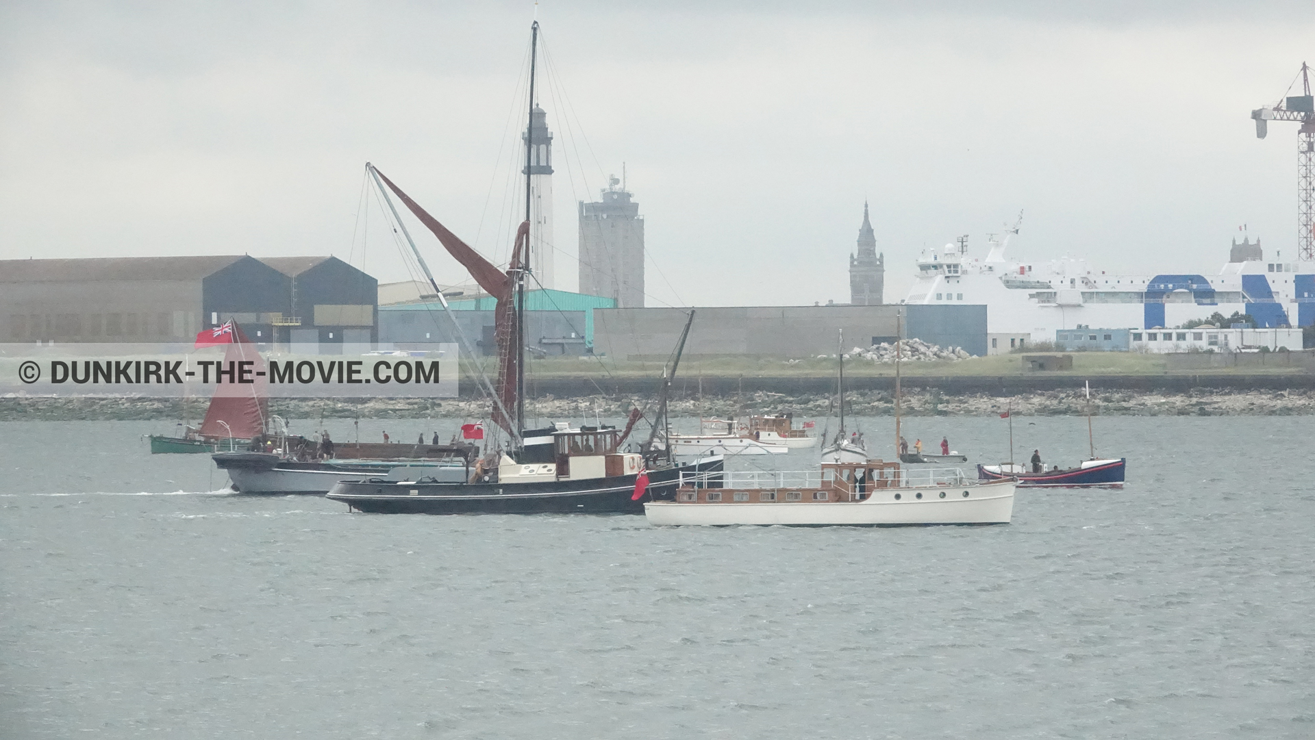 Picture with boat, Henry Finlay lifeboat, Xylonite,  from behind the scene of the Dunkirk movie by Nolan