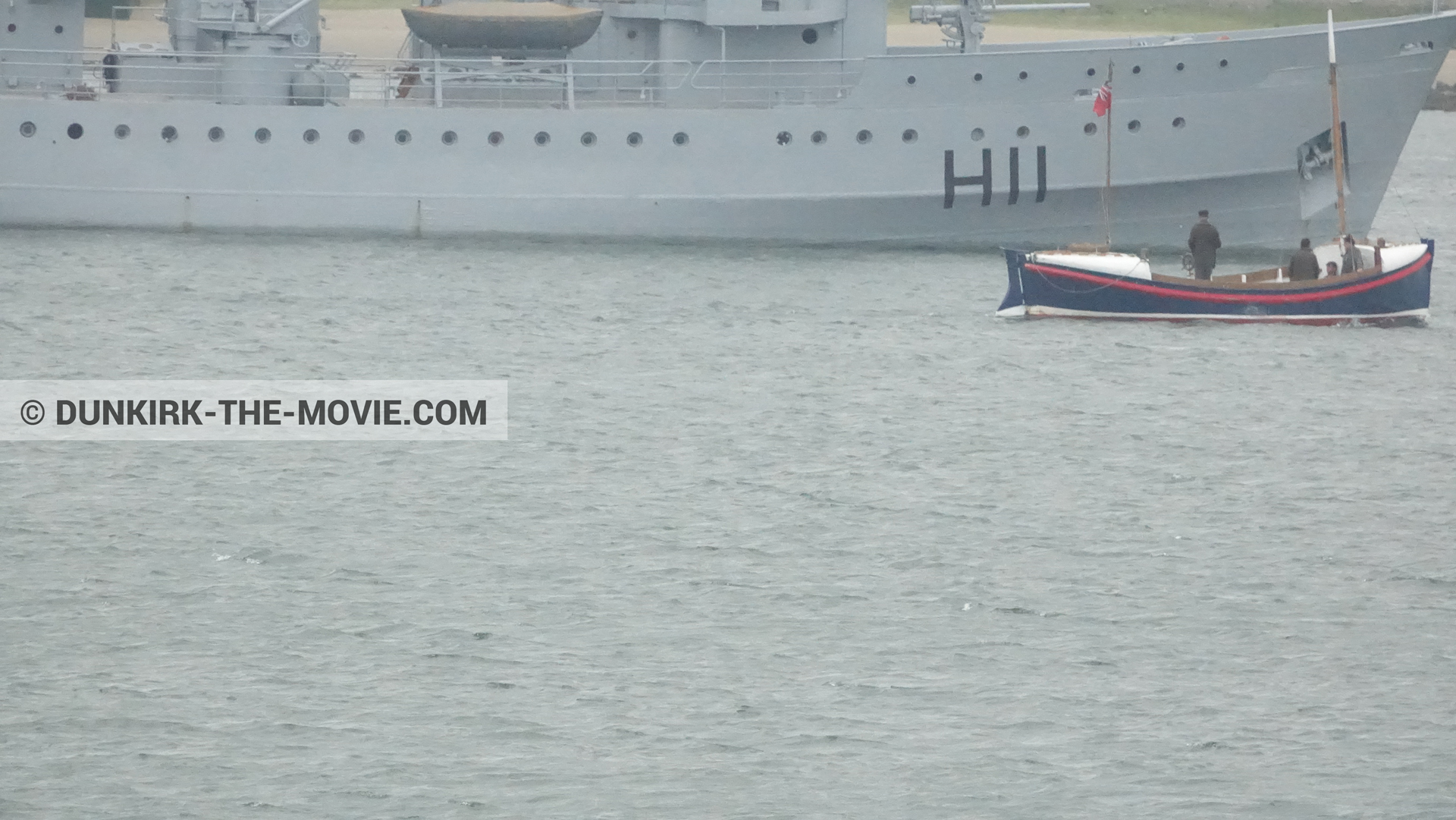 Picture with boat, H11 - MLV Castor, Henry Finlay lifeboat,  from behind the scene of the Dunkirk movie by Nolan