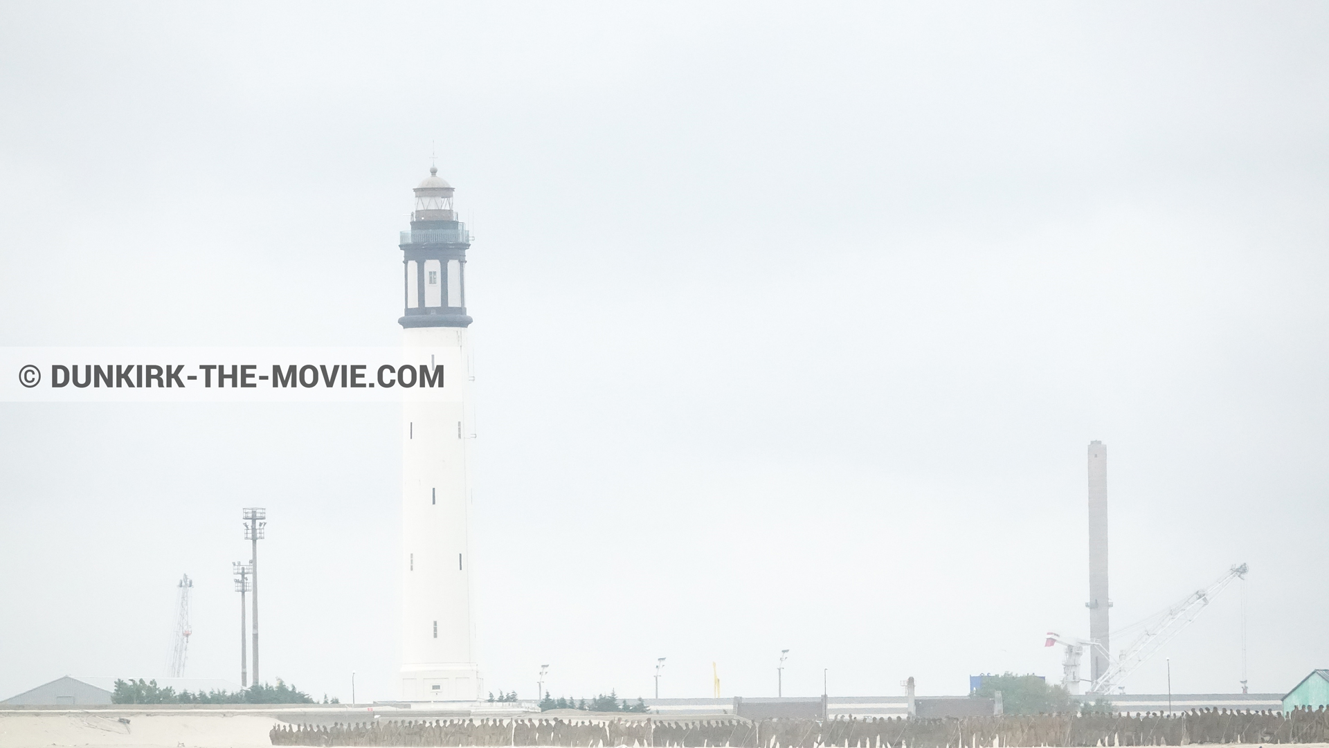 Picture with Dunkirk lighthouse,  from behind the scene of the Dunkirk movie by Nolan
