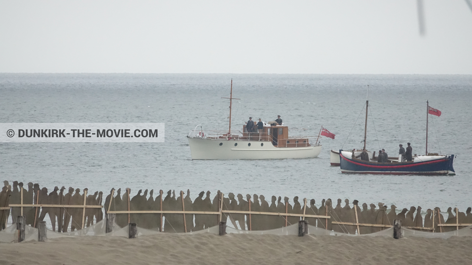 Picture with boat, decor, beach, Henry Finlay lifeboat,  from behind the scene of the Dunkirk movie by Nolan