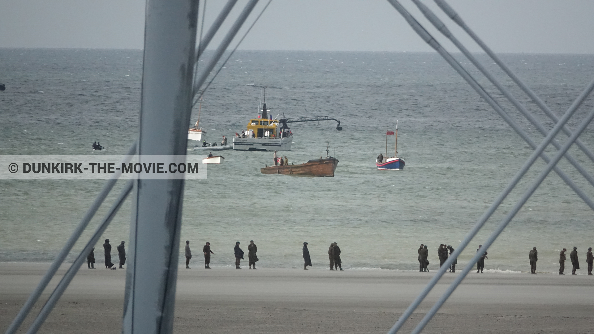 Picture with boat, Ocean Wind 4, beach, Henry Finlay lifeboat,  from behind the scene of the Dunkirk movie by Nolan