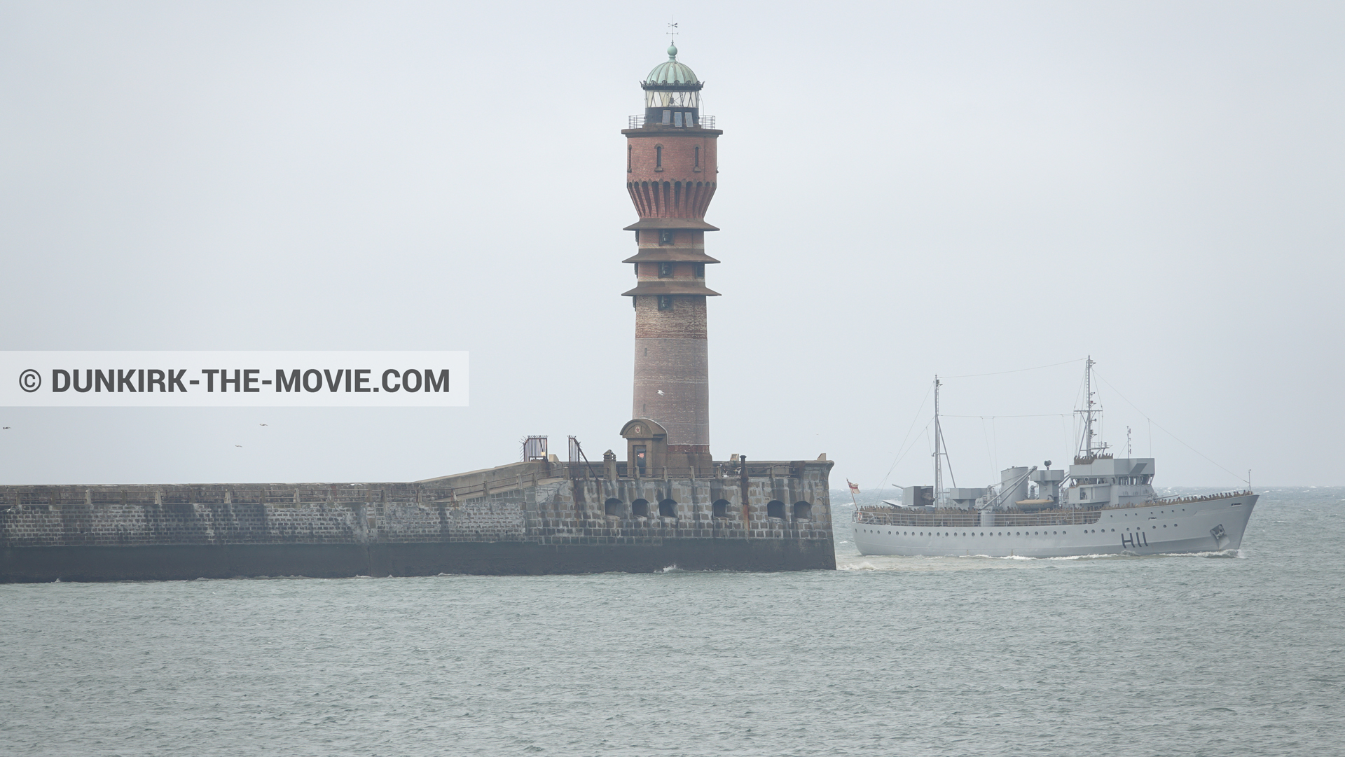 Picture with H11 - MLV Castor, St Pol sur Mer lighthouse,  from behind the scene of the Dunkirk movie by Nolan