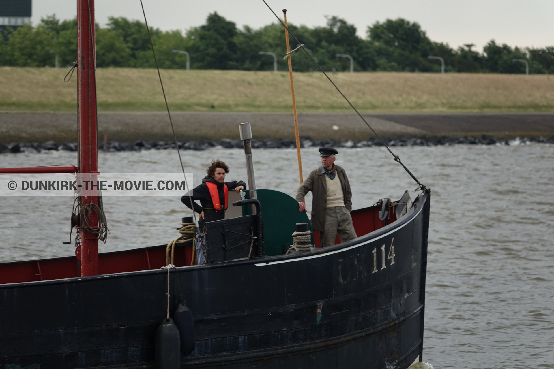 Picture with boat, Jonge Jacob - UK114,  from behind the scene of the Dunkirk movie by Nolan